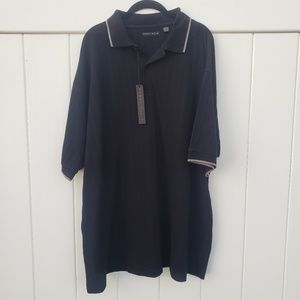 Perry Ellis Mens Black Polo Shirt  NWT
